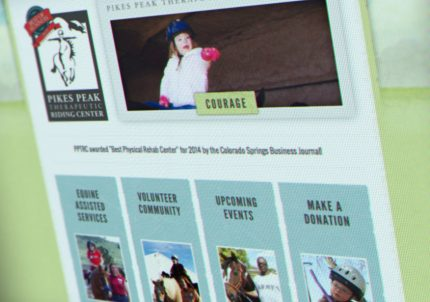 Web Design for Pikes Peak Therapeutic Riding Center