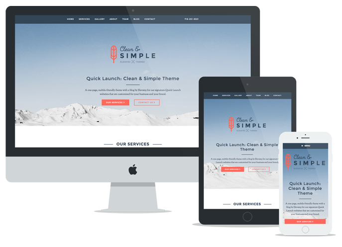 Elevate5 Responsive Quick Launch Websites - Clean & Simple Theme