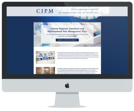 Custom Interventional Pain Management Website Design
