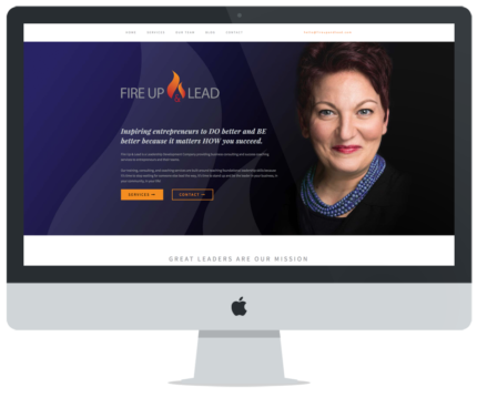 Fire Up & Lead Website Design