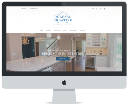 Web Design for Dolezal Creative Design + Build
